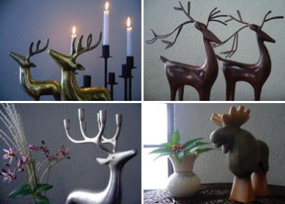 クリスマスオーナメント 鹿 トナカ ヴィンテージ