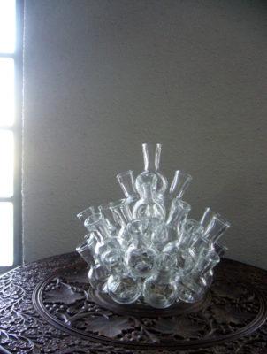 フラスコガラスフラワーベース花瓶