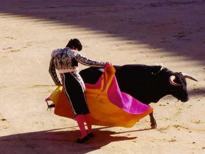 マタドール闘牛士のオブジェ