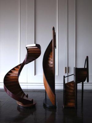 螺旋階段オブジェ建築模型