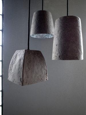 ペーパー製照明クレーターランプ