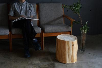 丸太スツール HIBA WOOD STOOL