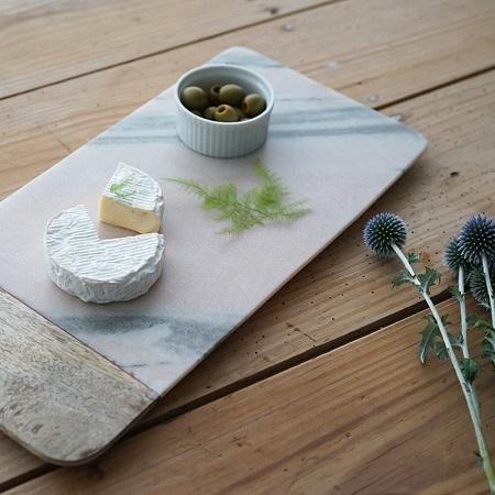 大理石カッティングチーズボードマーブルトレイ