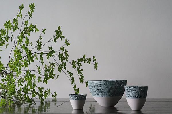 ツートンボウルテーブルウェア花器