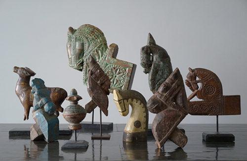 インドのアンティーク建築物装飾オブジェの再入荷
