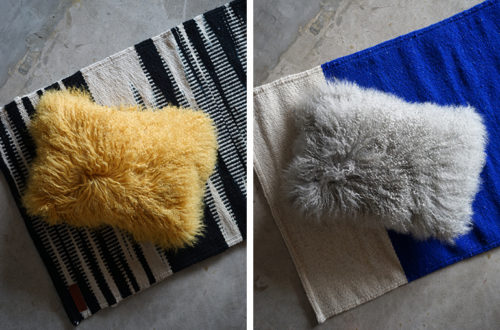 fur cushion1016