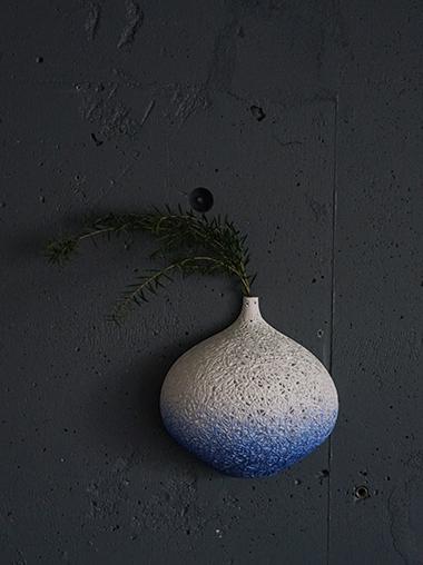 ウォールハングフラワーベース 花器 Bone china