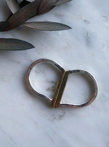 Rジュエリー 2連リング 真鍮 r-acce