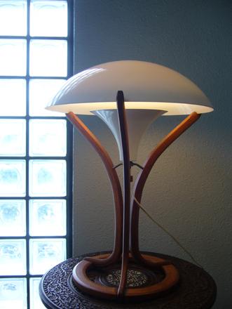 北欧ヴィンテージモダン チークデスクランプ テーブルライト照明