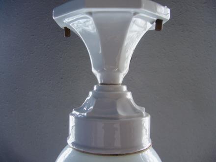 ヴィンテージ 磁器製シーリングライト アールデコ アンティークランプ照明
