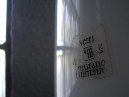 イタリア製ヴィンテージガラスデスクランプ