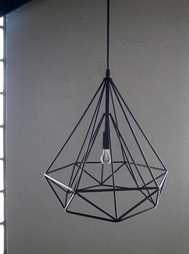 ダイヤモンド型ワイヤーペンダントライト照明
