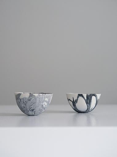 練り込み 磁器ボウル 作家ABODA Marble Porcelain Bowl Designed by ABODA