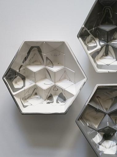 ヘキサゴン6角形ディスプレイトレイ Modern Hexagon