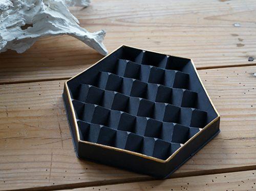 ヘキサゴン6角形ディスプレイトレイ