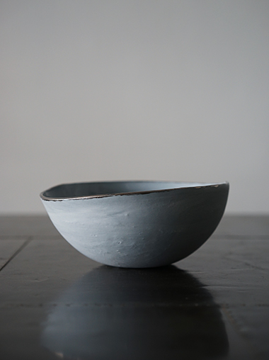 yfNa フランスの陶芸作家 Gray Marble Bowl