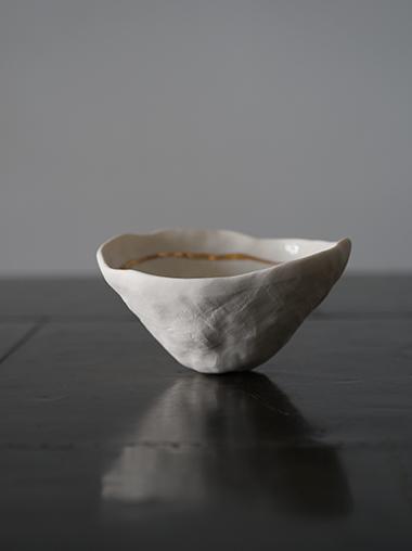 yfNa フランス 陶芸作家 Gold Line Bowl