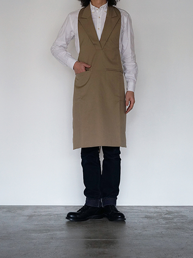 formuniform Cotton Apron - Formal Beige - from Lithuania