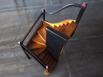 螺旋階段オブジェ 建築模型