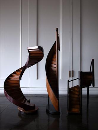 建築模型オブジェ 螺旋階段 アンティーク