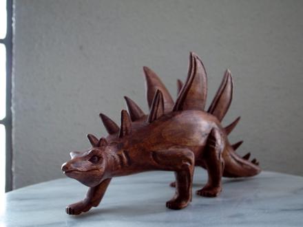 木製恐竜オブジェ ステゴザウルス