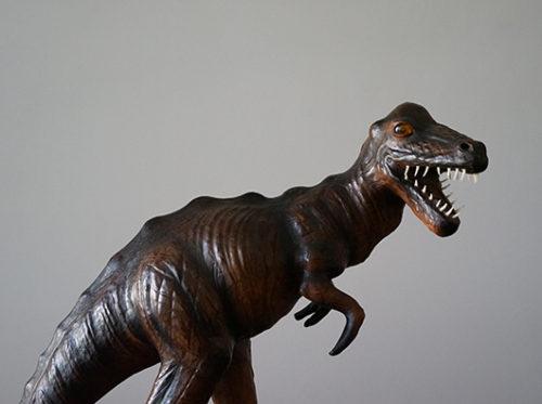 恐竜オブジェ 皮製 レザー