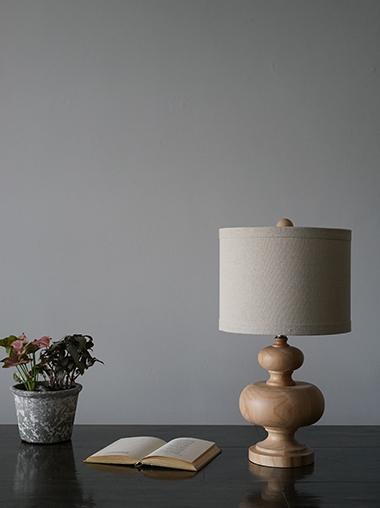 木製ウッドテーブルランプ マリンテイスト照明 Natural Wood