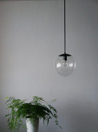球体照明 ガラスパイプ吊りライト