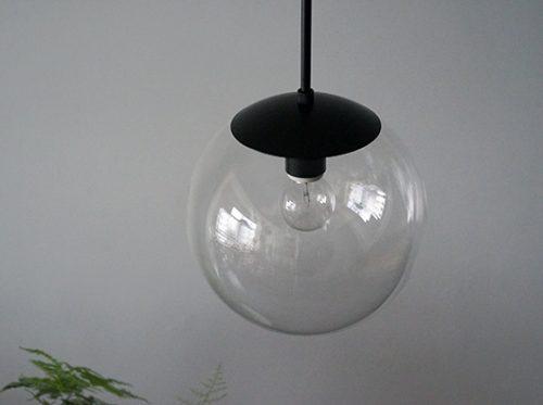 球体照明ガラスパイプ吊りライト