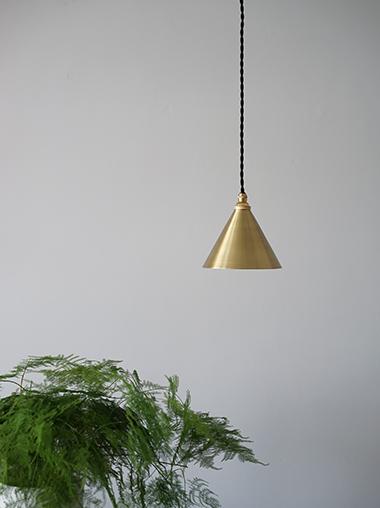 真鍮ペンダントライト小振りなシェードランプ照明 Modern