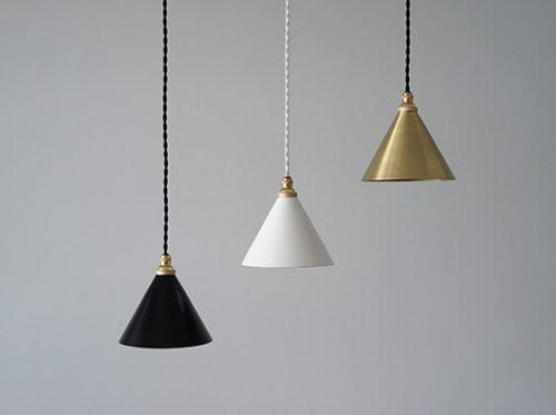 真鍮ペンダントライト小振りなシェードランプ照明