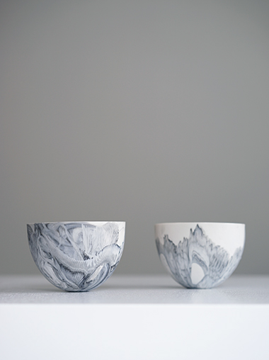 練り込み磁器作家ABODA Marble Porcelain Bowl Designed by ABODA