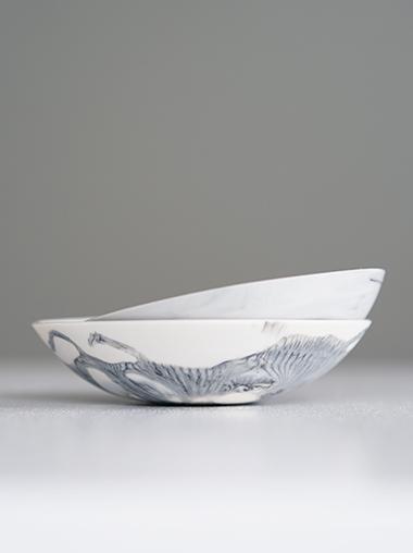 練り込み 磁器皿 作家ABODA Marble Porcelain Pin Dish Designed by ABODA