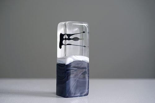 フランス クリスタルガラス製アートオブジェ