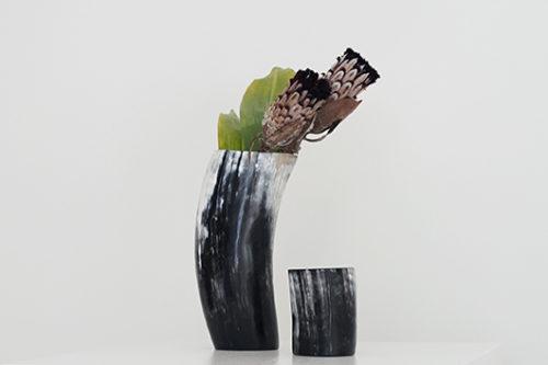Ziya Kenya カウホーンベース 牛角 花器