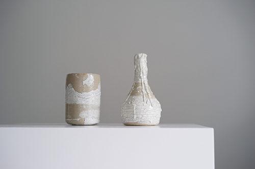 フランス 陶器製のフラワーベース
