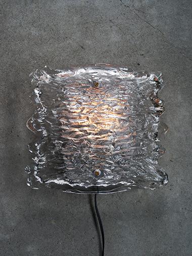 ヴィンテージ ガラス ブラケットランプ 壁掛け照明 Vintage Glass Blacket Light from Germany