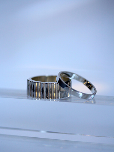 MMAA notok silver set ring