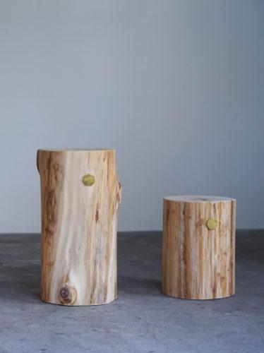 青森ヒバ Cul de Sac – JAPON カルデサックの丸太サイドテーブル