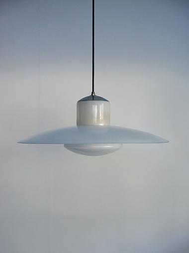 ヴィンテージモダンガラスペンダントライト照明 Wilhelm Braun-Feldweg Glass Pendant light from Germany
