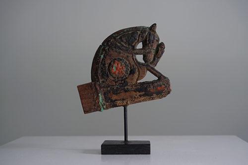 インド建築 装飾オブジェ 馬 アンティークディスプレイ