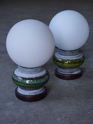 Steuler社 陶器製 ヴィンテージ テーブルランプ照明