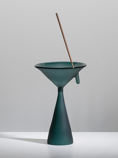 clear b ガラス インセンススタンド Glass Incense Stand - green - by clear b