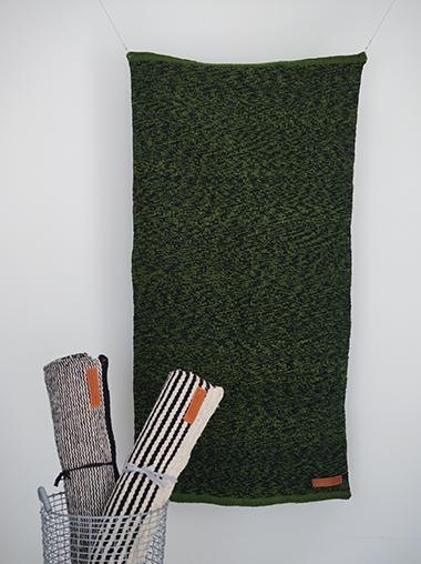 Lagos del Mundo ラゴスデルムンド メキシコのウールラグ Green Speckled Rug Designed by