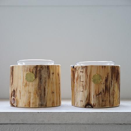 青森ヒバ Cul de Sac – JAPON カルデサックの丸太ペットテーブル