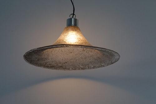 ドイツ ヴィンテージ 照明 ガラスペンダントランプ