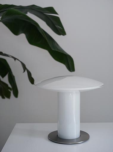 Peill & Putzler ヴィンテージガラステーブルランプ Peill & Putzler Vintage Glass Table Lamp from Germany